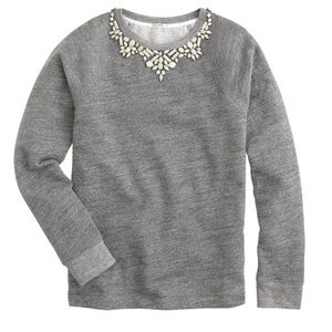 J CREW Bib Necklace Sweatshirt